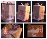 Fun, green and free wrapping paper – all from paperbags